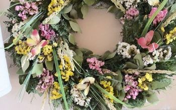adding bright spring colors on a budget, easter decorations, seasonal holiday decor, wreaths