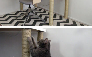 diy scratching post desk legs, how to, painted furniture, pets animals