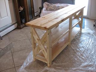 Building A Sofa Table Hometalk