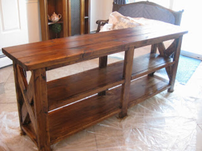 building a sofa table, how to, painted furniture, woodworking projects