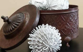 DIY Decorative Globes - Using Pull Tabs?!  Yes!