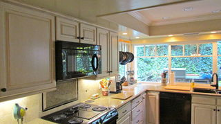 , Fuller view of the cabinets new windows and counter tops
