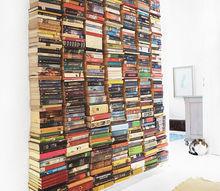 floating book wall, diy, repurposing upcycling, shelving ideas, wall decor
