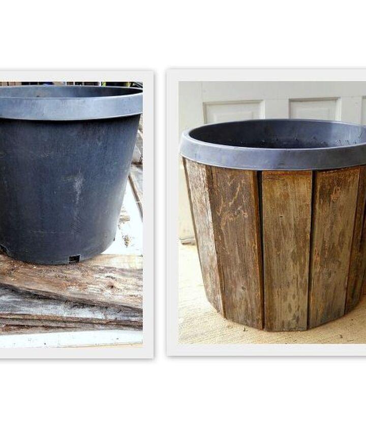 Restyle a nursery pot using pallet boards!