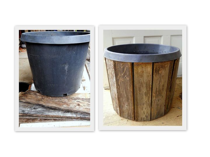 Restyle a nursery pot using pallet boards!