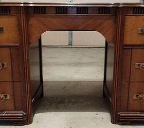 Old ArtDeco Style Vanity Becomes A Desk Hometalk