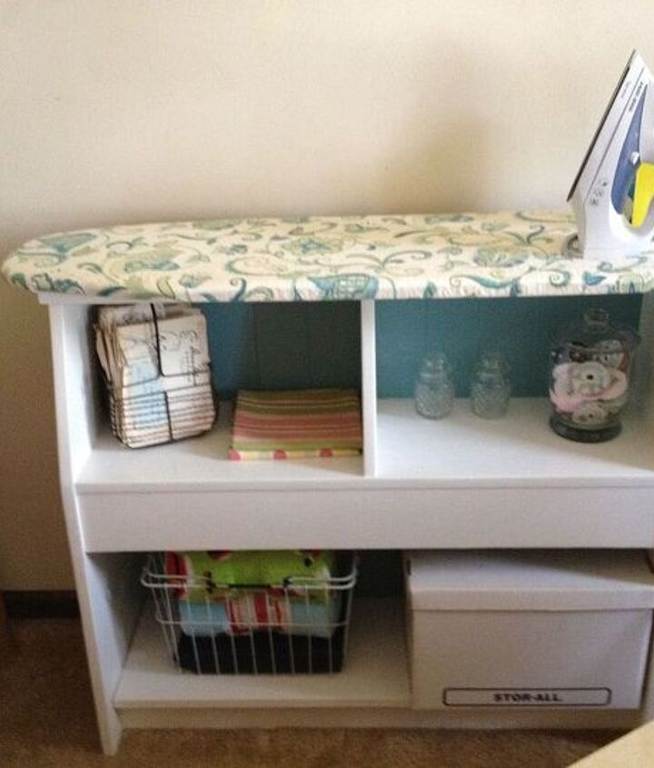 diy ironing board, laundry rooms, repurposing upcycling, shelving ideas