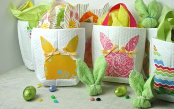 Easter Bunny Gift Bags Made From Mailing Envelopes