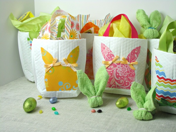 easter bunny gift bags made from mailing envelopes hometalk