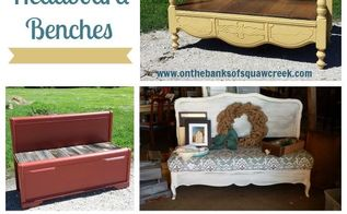 4 tips for diy headboard benches, how to, outdoor furniture, painted furniture, repurposing upcycling