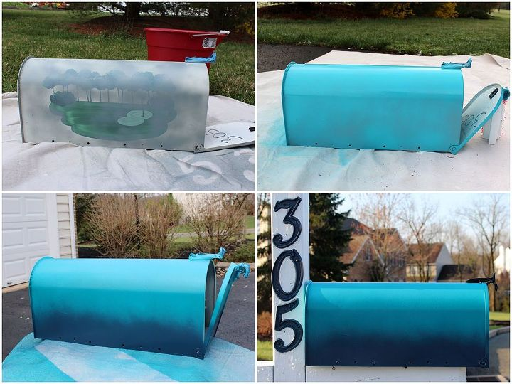 diy mailbox upgrade, curb appeal, painting