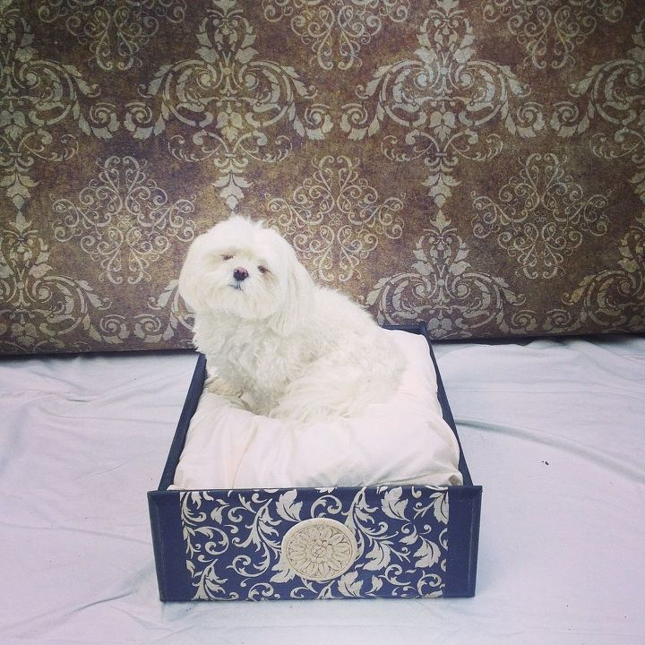 dresser drawer to dog bed, painted furniture, pets animals, repurposing upcycling
