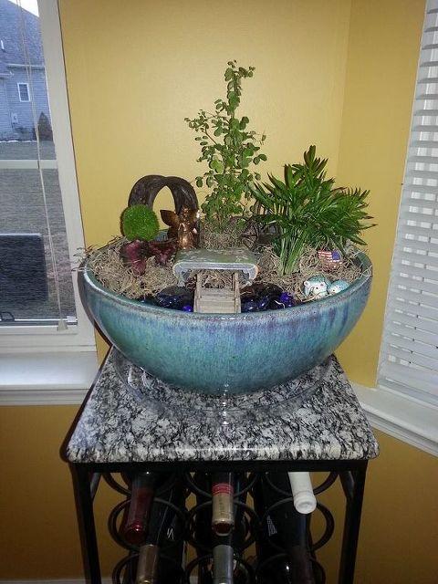 indoor fairy garden upgrade container gardening gardening home decor - Indoor Fairy Garden