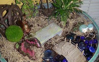 indoor fairy garden upgrade, container gardening, gardening, home decor