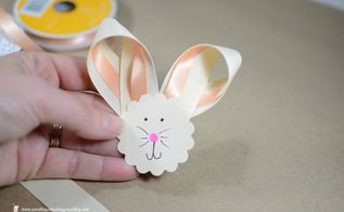 diy ribbon bunny easter wreath, crafts, easter decorations, how to, seasonal holiday decor, wreaths