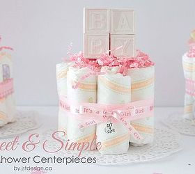 Sweet Simple Baby Shower Centrepiece, Crafts, Repurposing Upcycling