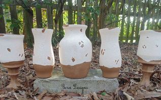 how to transform cast off glass containers pottery with a tuscan heirloom look, crafts, how to, repurposing upcycling