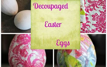 easy peasy dollar store decoupaged easter eggs, crafts, decoupage, easter decorations, how to, seasonal holiday decor