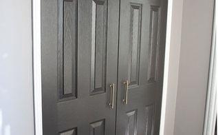 diy modern closet door makeover, closet, doors, how to, painting
