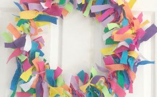 rainbow felt wreath, crafts, how to, seasonal holiday decor, wreaths