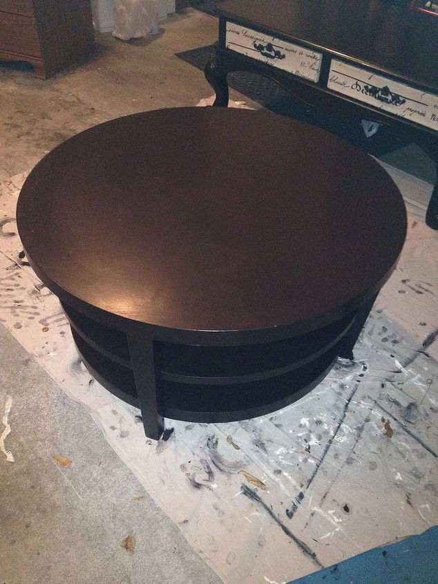 Round Coffee Table Turns Into Tufted Ottoman Hometalk