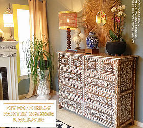 Use Stencils To Recreate An Anthropologie Bone Inlay Dresser Painted  Furniture Repurposing Upcycling Dresser R61