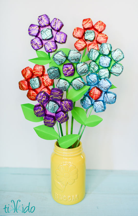 easy mother s day spring chocolate bouquet, crafts, flowers, how to, seasonal holiday decor