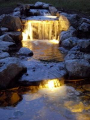 Nighttime Waterfall Drama