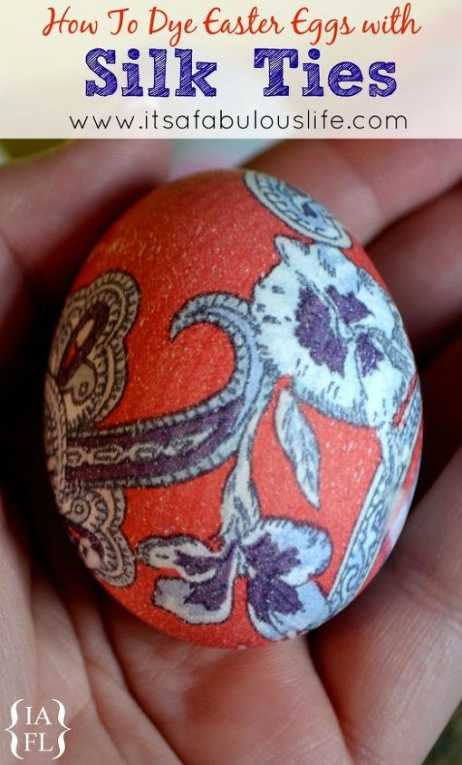 dye easter eggs with silk ties, crafts, easter decorations, how to, repurposing upcycling, seasonal holiday decor