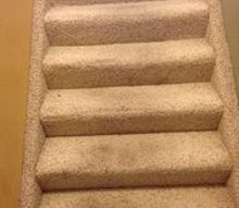 q stairs removing carpet wood or re treads, flooring, hardwood floors, stairs, reupholster