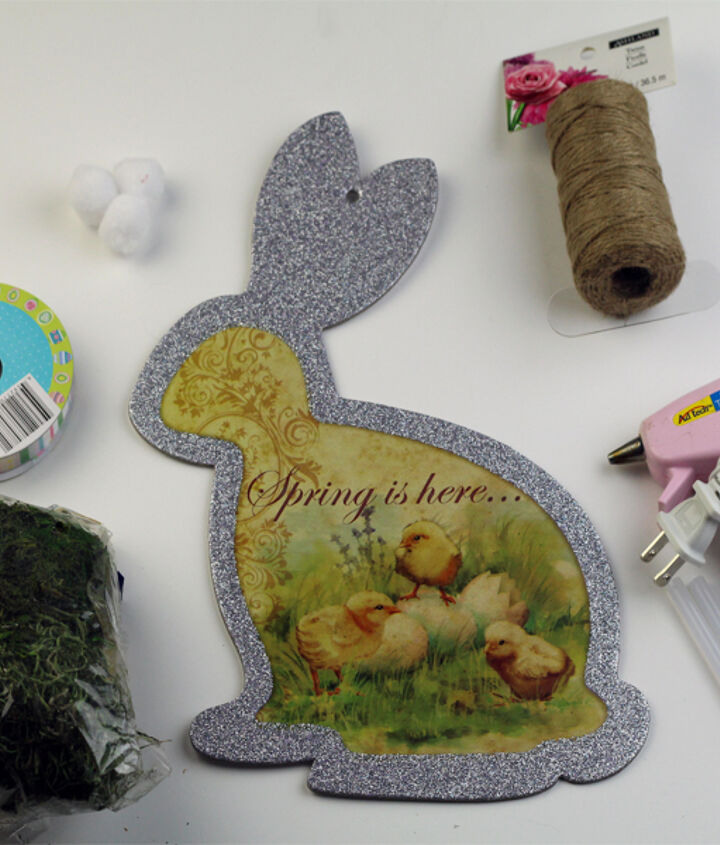 moss and twine wrapped easter bunny, crafts, easter decorations, how to, seasonal holiday decor