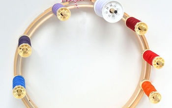 embroidery hoop thread orgaizer, crafts, organizing, repurposing upcycling