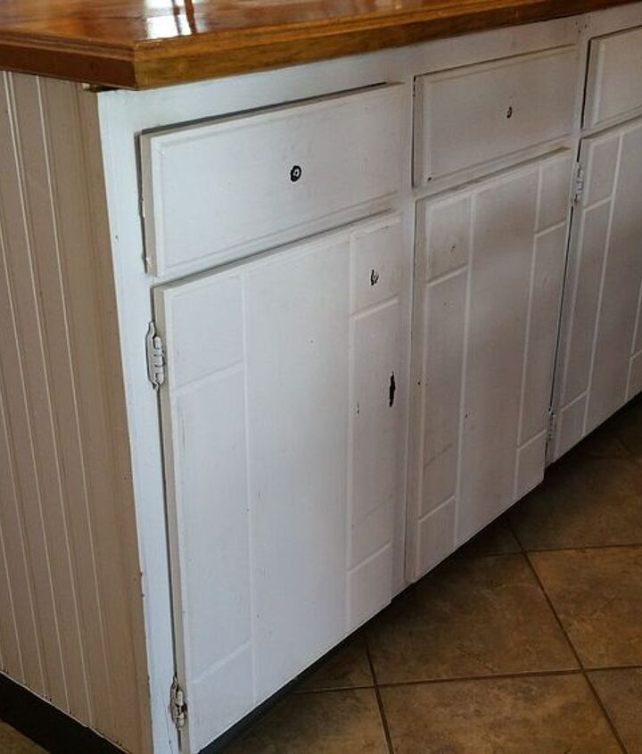 kitchen cabinet island makeover, decoupage, kitchen design, kitchen island, painted furniture, repurposing upcycling