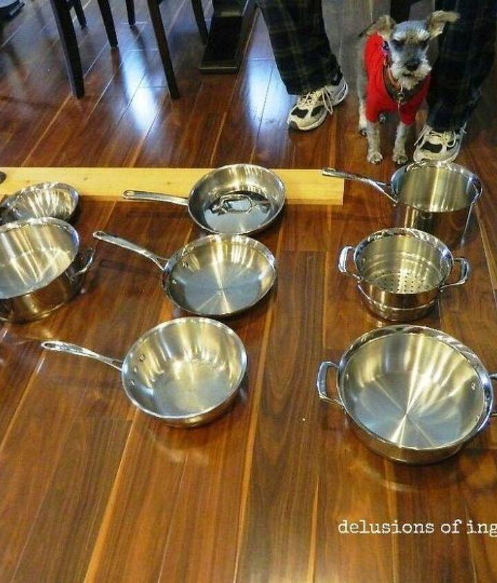 pot farm or pot rack, kitchen design, storage ideas, wall decor