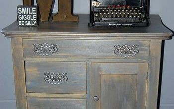 shades of gray a vintage cabinet makeover, how to, painted furniture