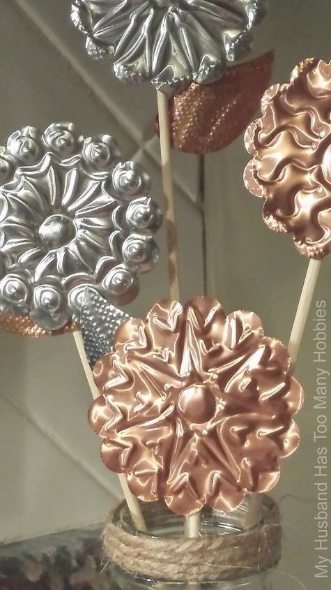 rustic embossed flowers for spring, crafts, how to