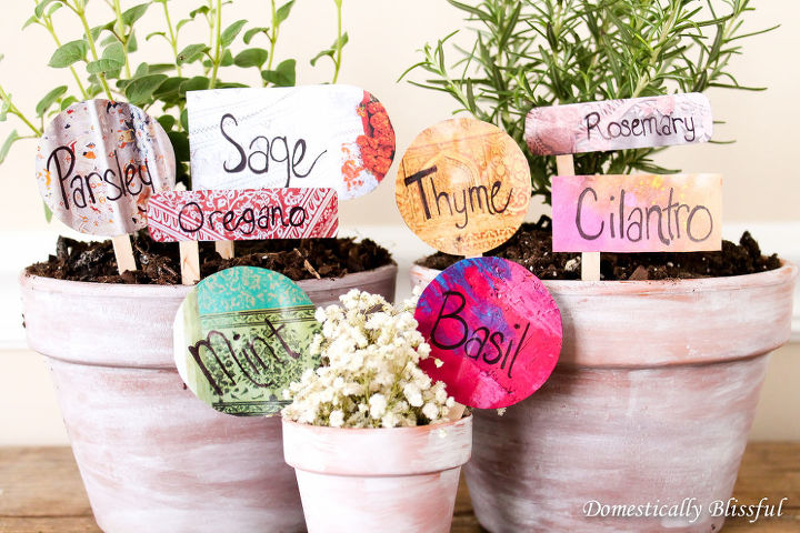 anthropologie upcycled herb garden markers, container gardening, crafts, gardening, how to, repurposing upcycling