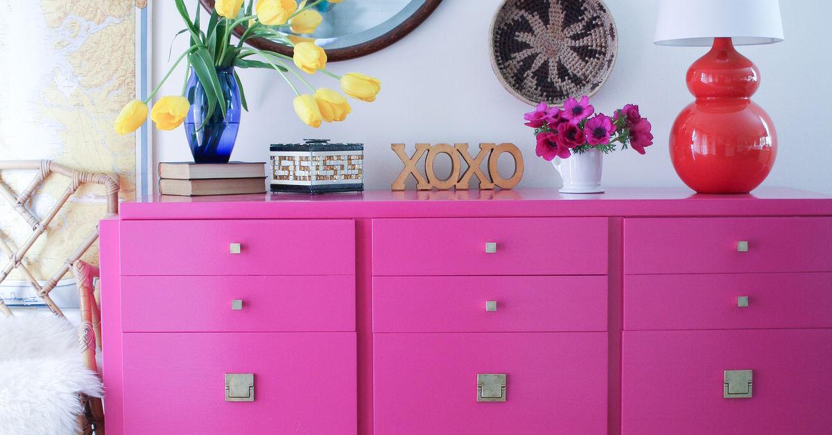 Hot Pink American of Martinsville Dresser / Buffet   Hometalk