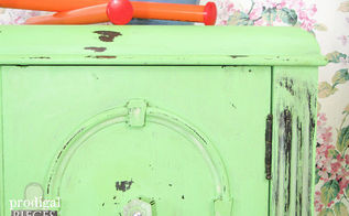 antique radio turned sewing cabinet, painted furniture, repurposing upcycling