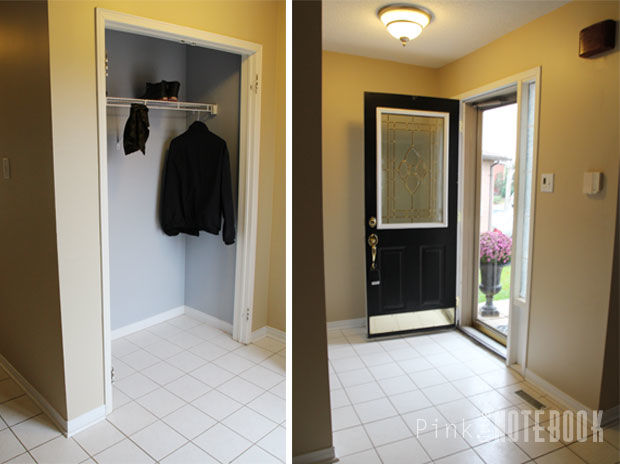 Front Foyer Floor Tiles : Front foyer makeover before & after hometalk