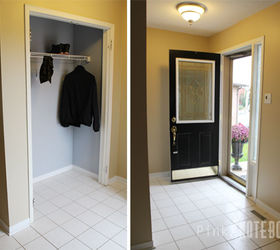 Front Foyer Before After, Closet, Foyer, Painting, Wall Decor