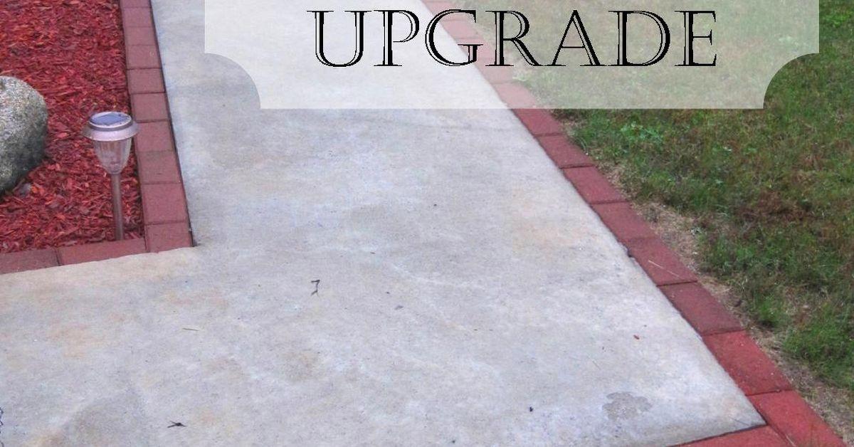 Diy Brick Walkway Update Hometalk