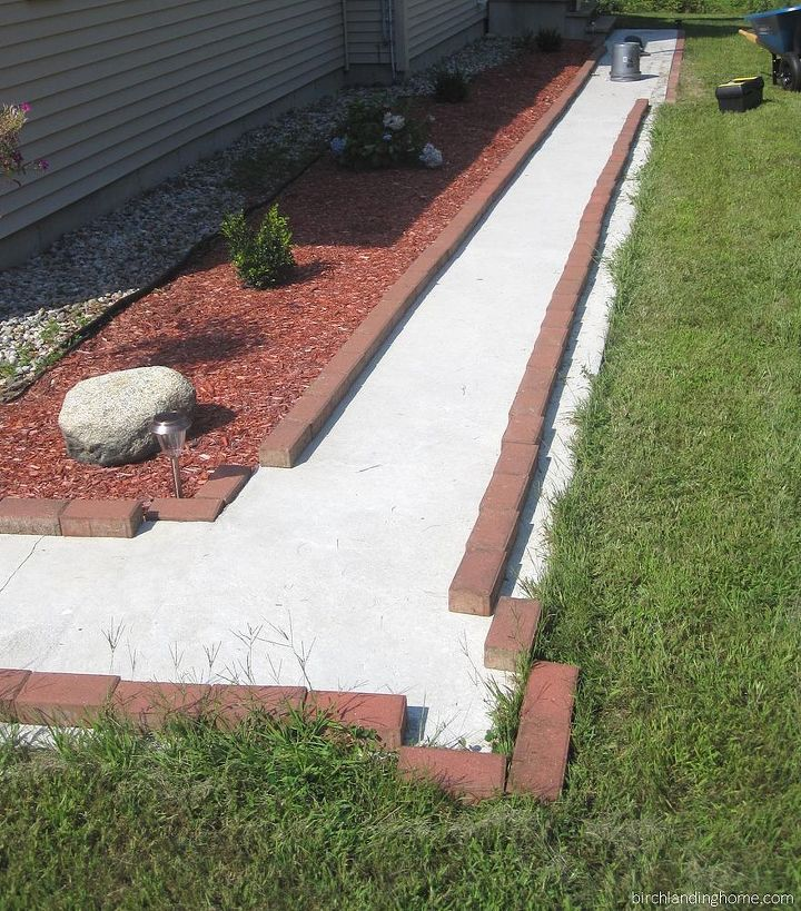 diy brick walkway update, concrete masonry, curb appeal, diy, gardening, how to