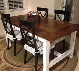 cheap farmhouse tables #1 - diy farm table on the cheap, diy, how to, painted furniture, rustic