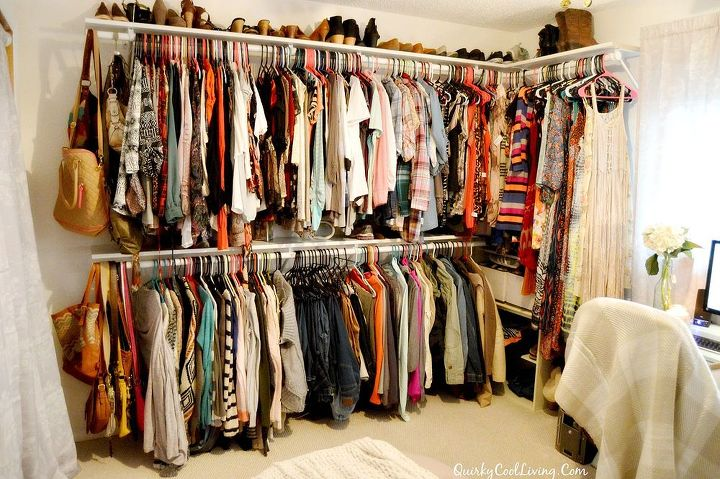 Craft Room Turned Dressing Closet On A Budget Bedroom Ideas Organizing