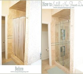 How To Install A New Shower Door, Bathroom Ideas, Diy, Home Improvement,