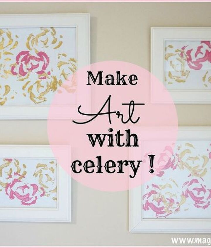 creative way to use up celery stalk ends, crafts, how to, repurposing upcycling, wall decor