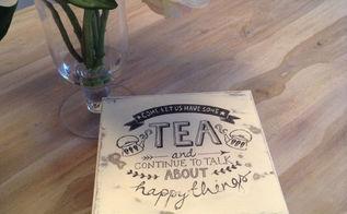 diy tea box, chalk paint, crafts, decoupage, how to