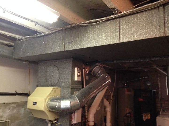 q ductwork cleaning, cleaning tips, hvac, This shows exposed ducts near my HVAC