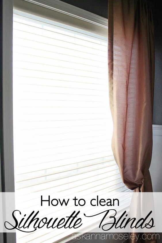 how to clean silhouette blinds, cleaning tips, how to, window treatments